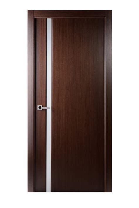 dark brown front door black stained wooden single half glass modern front doors
