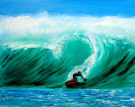 surf s weekly painting week 28 surf s up again surfer in ocean