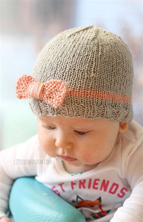 newborn knit hat knit bow baby hat knitting pattern knit hat pattern for