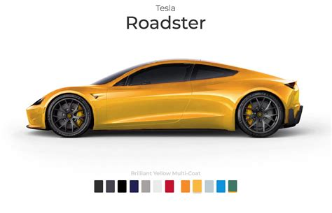 tesla roadster colors teslarati