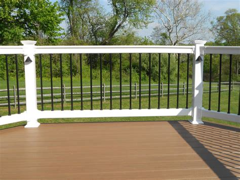 decks and railings aluminum powder aluminum powder coated deck railing