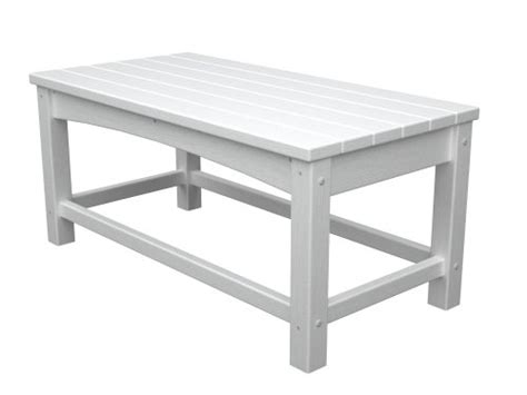 polywood outdoor furniture club coffee table white