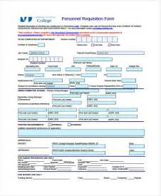 personnel form template requisition form template 8 free pdf documents