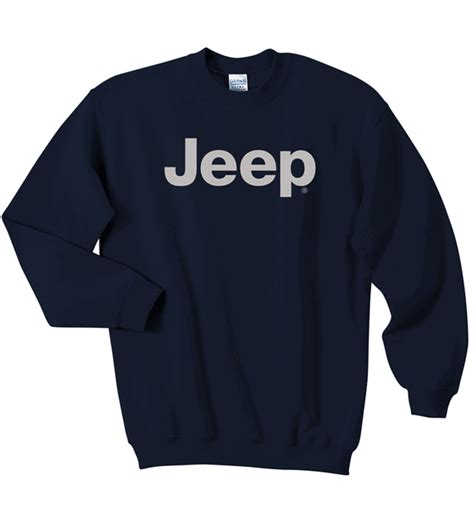 light gray jeep all things jeep crewneck sweatshirt with light gray jeep