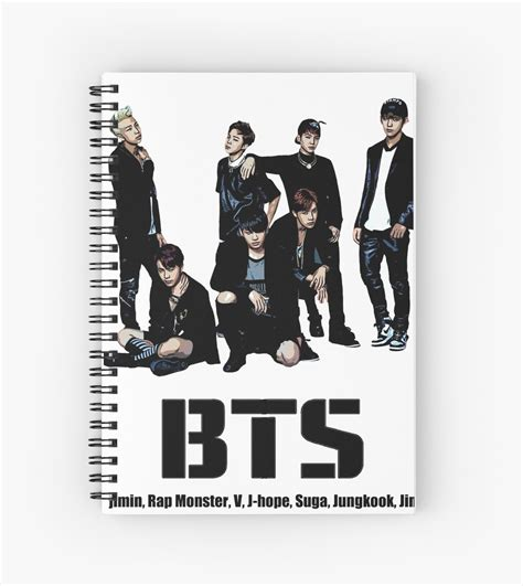 Monster Wall Stickers quot bts bangtan boys quot spiral notebooks by kpoplace redbubble