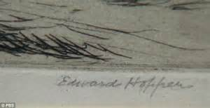 Signature work the work was personally signed by edward hopper and it