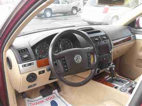 auto air conditioning service 2011 volkswagen touareg engine control buy used 2004 volkswagen touareg v6 sport utility burgundy tan leater air suspension in imlay