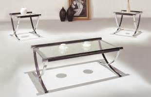 Glass Top Coffee And End Tables Glass Coffee Tables And End Tables Set Of Glass Top Contemporary Coffee End Tables W Chrome Legs