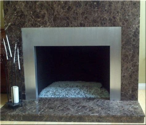 Fireplace Metal Frame by Custom Metal Frames Surrounds For Fireplaces Or Area