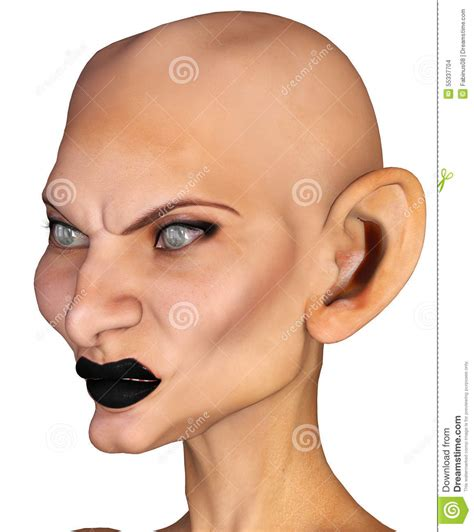 bald and big eared stock images fantasy woman portrait image 55337704