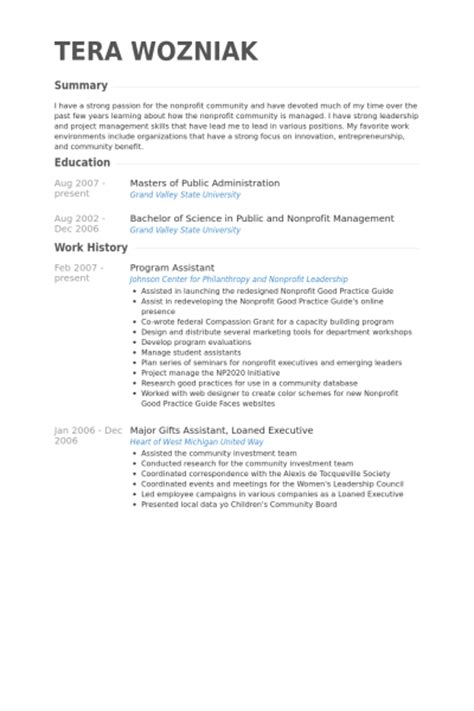 Program Assistant Sle Resume by Program Assistant Resumes Botbuzz Co