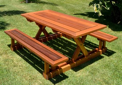 picnic table with attached benches chris s picnic table with attached benches