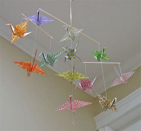 Origami Bird Mobile - 7 best images about origami on crane mobile
