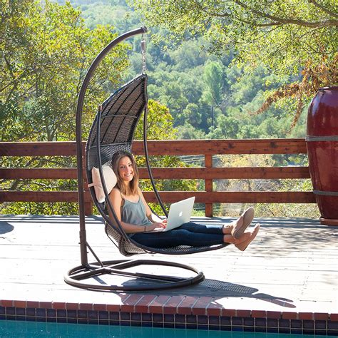Backyard Discovery Hanging Lounger Review Outdoor Hanging Lounger Swing Chair With Stand
