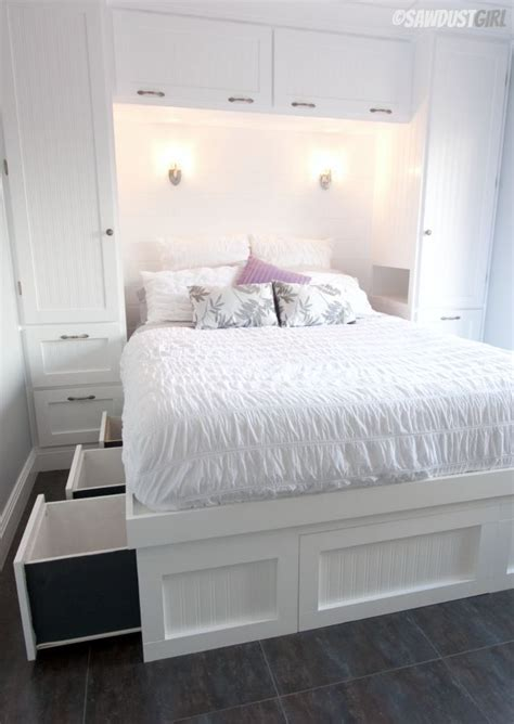 built in bedroom storage built in wardrobes and platform storage bed a fabulous
