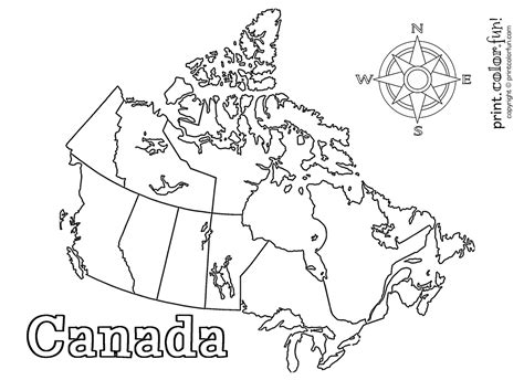 canada colors map of canada colouring page at getcolorings free