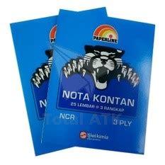 K3 Buku Nota Kontan Rangkap 3 Kecil paperline ppl nk k3 ncr nota kontan kecil 3 ply total atk