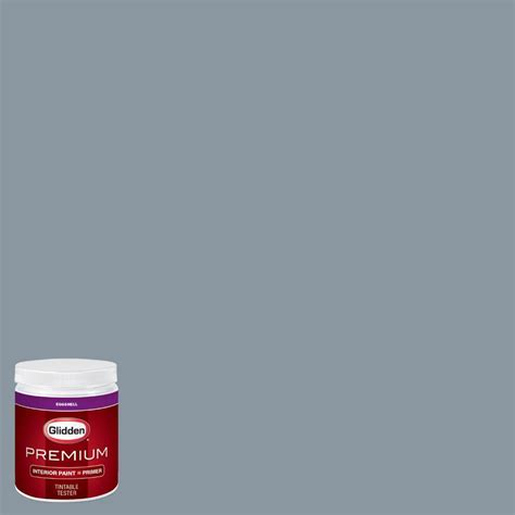 glidden premium 8 oz hdgb63 smoke grey eggshell interior paint with primer tester hdgb63p 08en