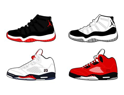 Drawing Jordans by Vector Air Retro Shoes On Behance