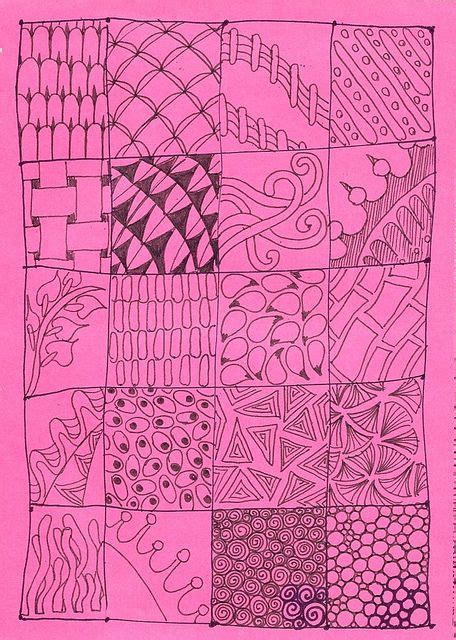 zentangle pattern charts real zentangle patterns by carolion via flickr art