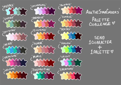 color palette color palette challenge meme tumblr