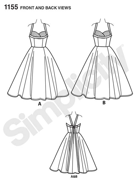 pattern review dress form simplicity 1155 miss and miss plus vintage dress