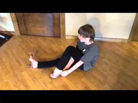 11 year boy tries on high heels