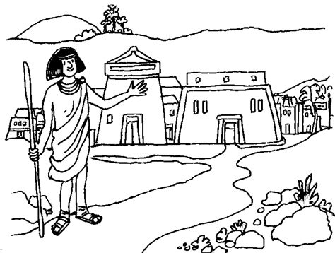coloring page of joseph and potiphar joseph and potiphar free colouring pages