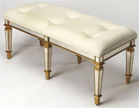 gold bench celeste mirror gold bench 3034353 butler
