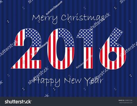 the banner of merry christmas and happy new year 2016 with