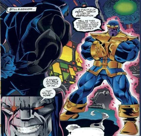 darkseid infinity gauntlet apocalypse darkseid and thanos a guide to big blue