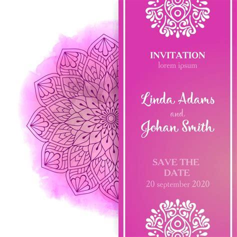 free pink wedding invitation templates pink wedding invitation template vector free