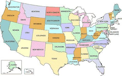 usa map states only printable map of usa