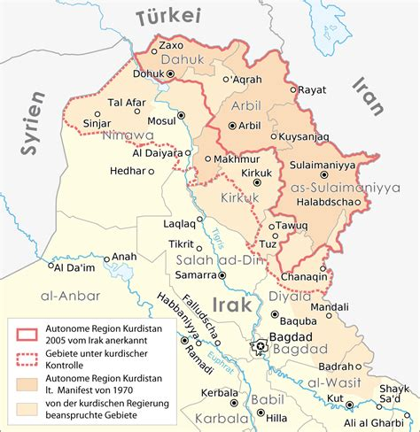 map of iraqi kurdistan cities in iraqi kurdistan