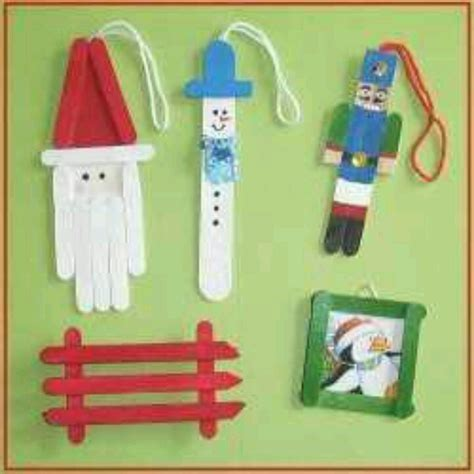 popsicle stick ornaments christmas pinterest