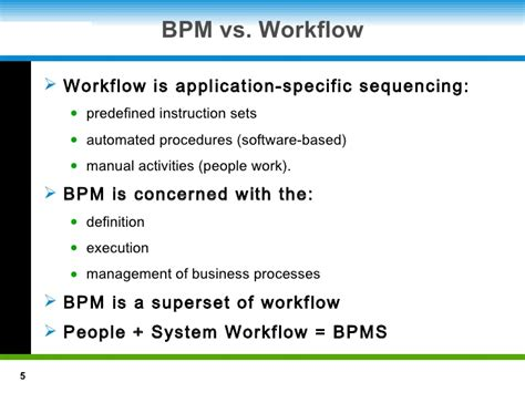workflow vs bpm introduction to bpm technology