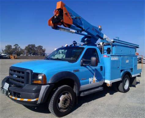 california pge public auction april   selling fleet bucket trucks digger derricks