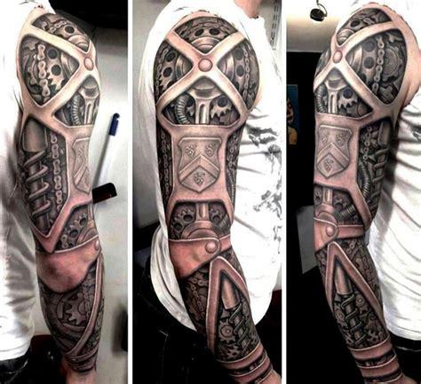 霸气的机械臂纹身