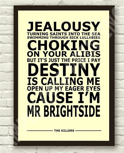 lyrics mr the killers mr brightside lyrics typography subway