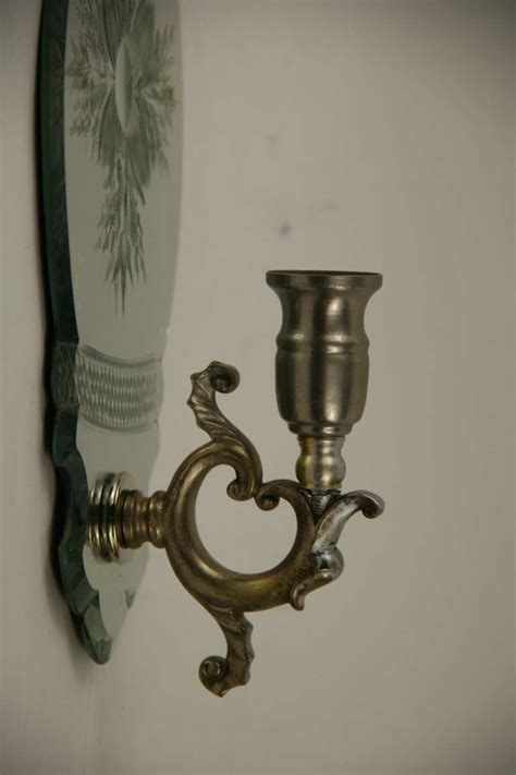 mirrored candle sconce pair of mirrored candle sconces at 1stdibs