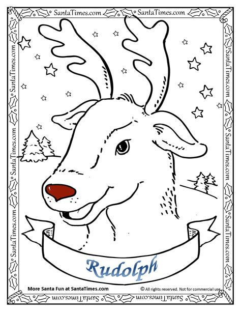 rudolph the nosed reindeer coloring pages rudolph the nosed reindeer coloring page gt there s