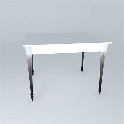 square white dining table louis 3d model max obj 3ds