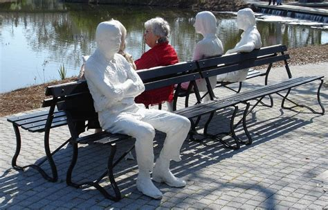 George Segal Three Figures And Four Benches three figures and four benches 1979 george segal