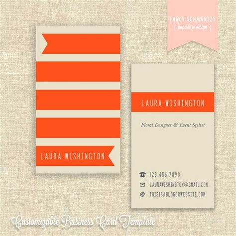 Business Card Template By Fancyschmantzy On Etsy 21 50 Calling Card Pinterest Card Etsy Card Templates