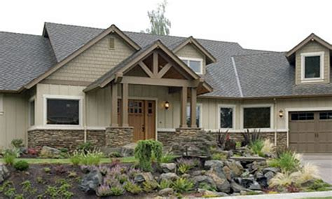 craftsman style custom home plans craftsman style homes with stone ranch style homes