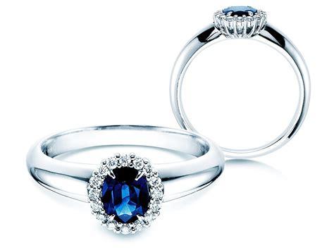 Verlobungsring Blau by Saphir Verlobungsring In 18k Wei 223 Gold Mit