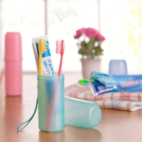 Bathroom Toothbrush Storage Bath Travel Toothbrush Storage Holder Box Tooth Mug Toothpaste Cup Trip Accessories Set Alex Nld