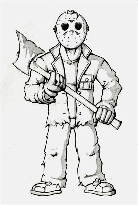 Jason Voorhees Coloring Pages Online | jason coloring page pinteres