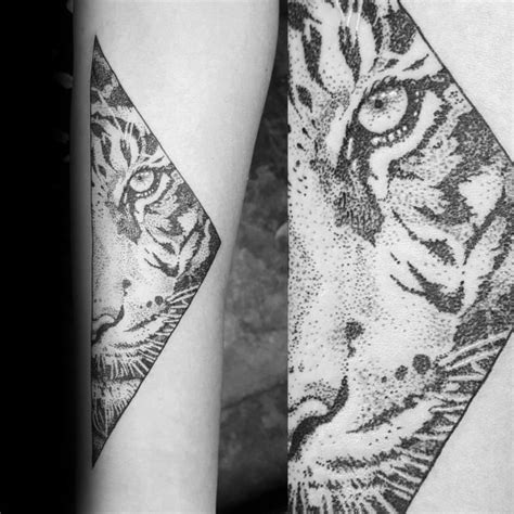 geometric tiger tattoo geometric tiger