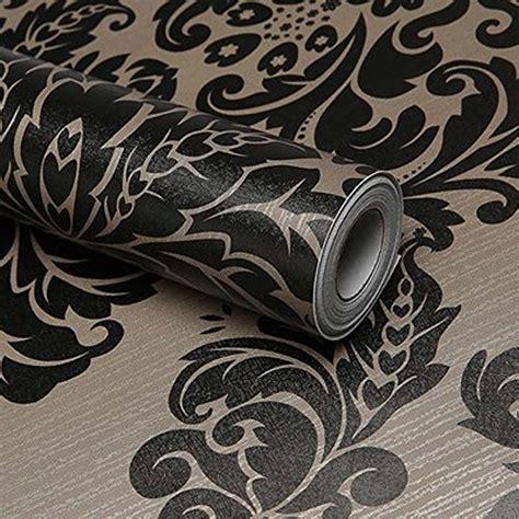 Damask Shelf Liner by Simplelife4u Black Damask Self Adhesive Shelf Drawer Liner